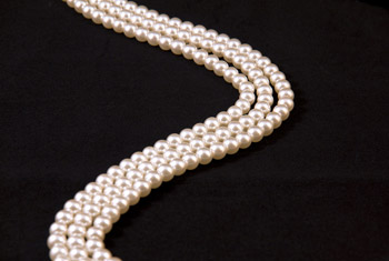 Image of pearl necklaces