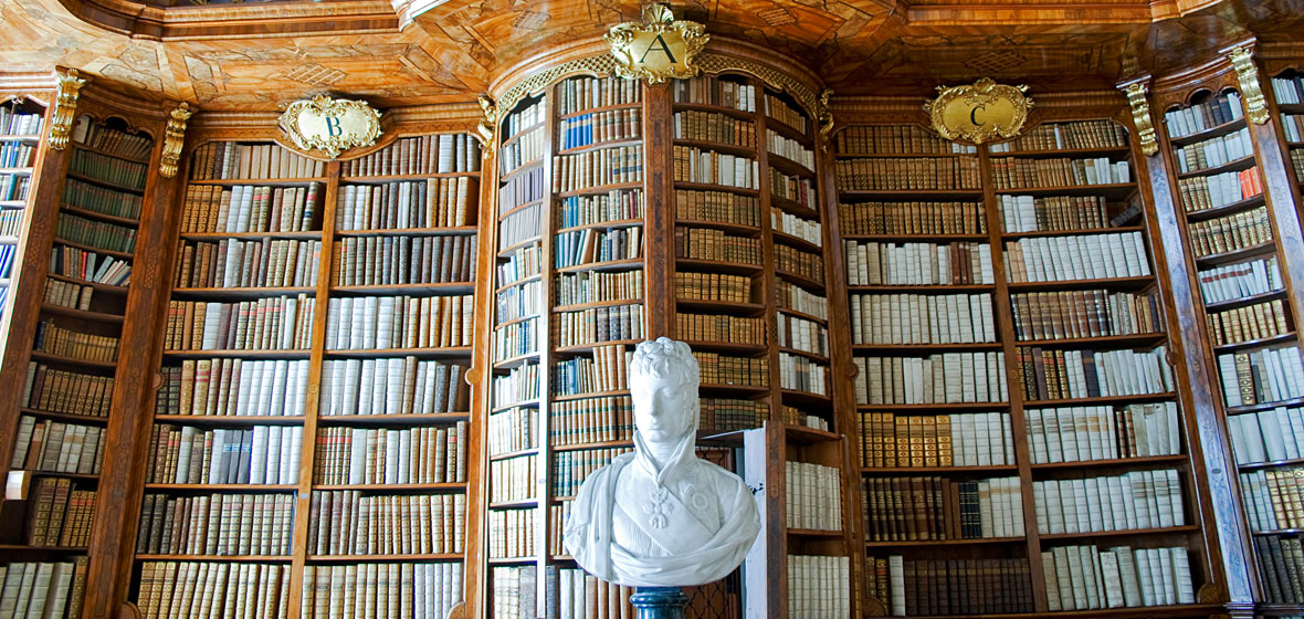 Image of a large bookcase.